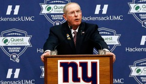 Tom Coughlin gives a farewell press conference.