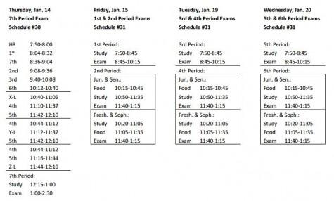 Elder's new midterm exam schedule