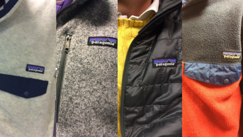 The four Patagonia sweaters or jackets in 7th Period Journalism