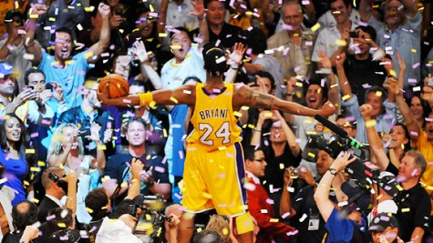 Kobe Bryant winning his last title in 2010
