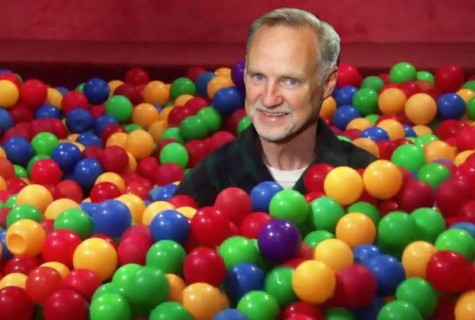 Rogers in the ball pit