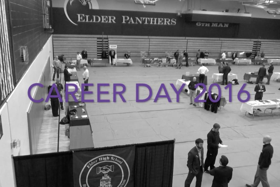 Elder's Career Day took place in the gym.