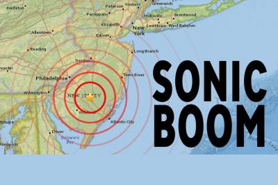 The size and location of where the sonic booms originated.