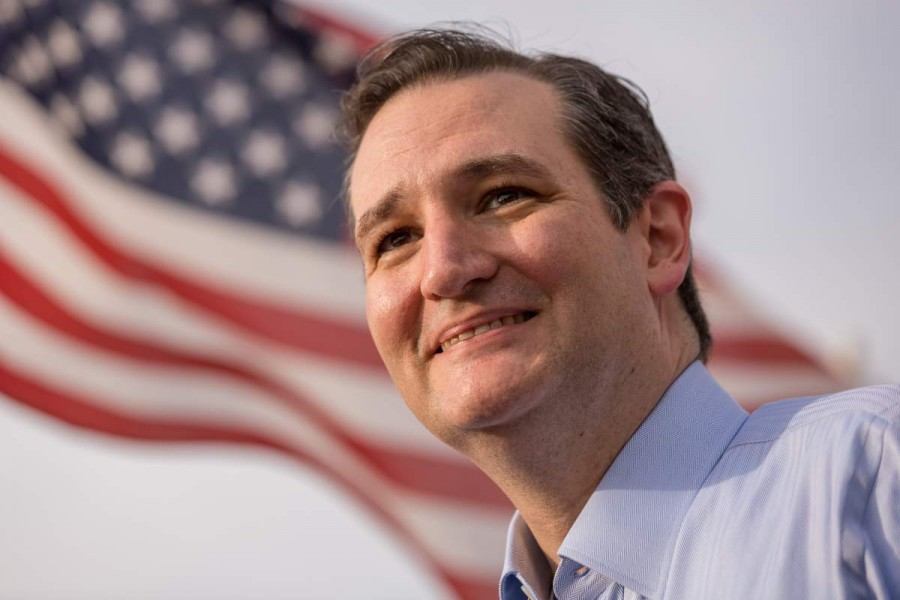 SPARTANBURG, SC - APRIL 3:  Senator and GOP presidential candidate Ted Cruz answers questions from local media following a town hall meeting at the Beacon Drive-in restaurant on April 3, 2015 in Spartanburg, South Carolina.  The Beacon Drive-in, traditionally a popular venue for campaigning politicians, was Cruz's 2nd stop of the day in South Carolina.  (Photo by Richard Ellis/Getty Images)