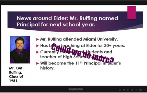Should we be advertising more Elder news through our monitors?