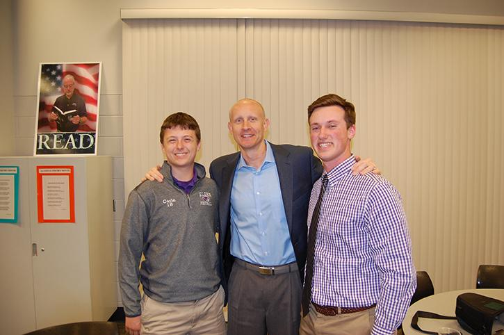 Cole Carle (left) and myself (right) with Xavier's Coach Mack.