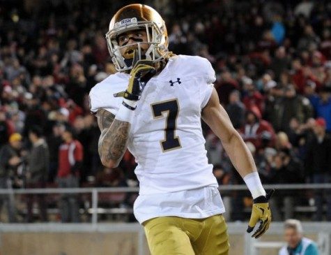 Photo by thejetpress.com, of Wideout Will Fuller from Notre Dame