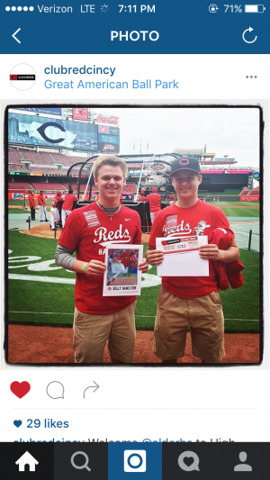 Club Reds instagram post of Cole and I.