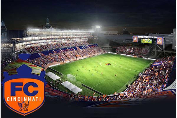 Artist's rendering of Nippert Stadium for an FC Cincinnati match