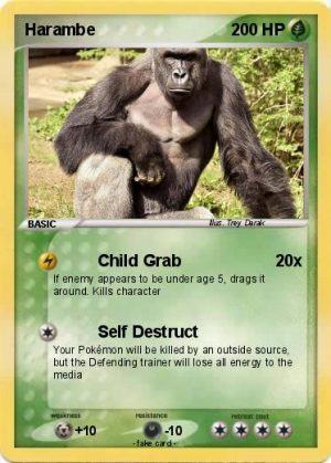 Possibly the worst picture in the history of pictures. A combination of Pokemon and Harambe. Simply cringeworthy.