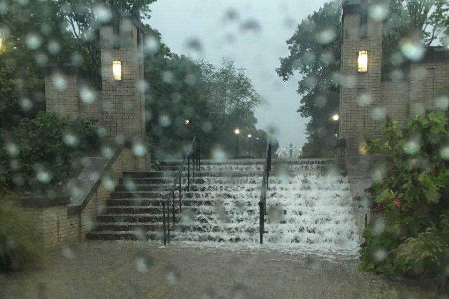 Heavy storm devastates XU's campus