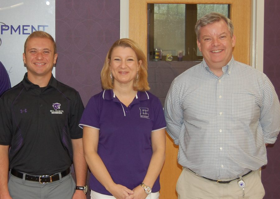 Mr. Justin Quatman, Mrs. Tara Tuttle, and Mr. TJ Evert  are all excited to be new members of Elder's faculty and staff.