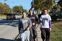 Elder students enjoying the walk as usual. (photo courtesy of Mr. Bill)