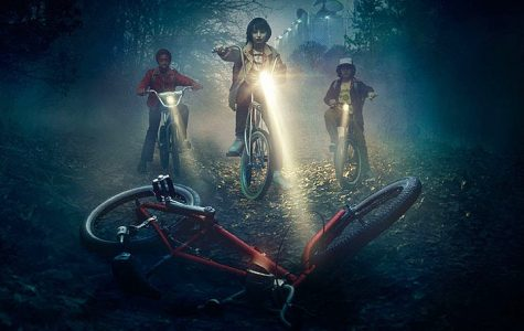 Stranger Things gang on their bikes