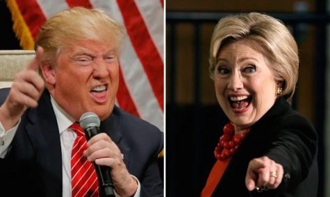 The two candidates make their odd facial expressions while speaking.