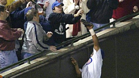 Bartman reaches out to snag foul ball from Alou