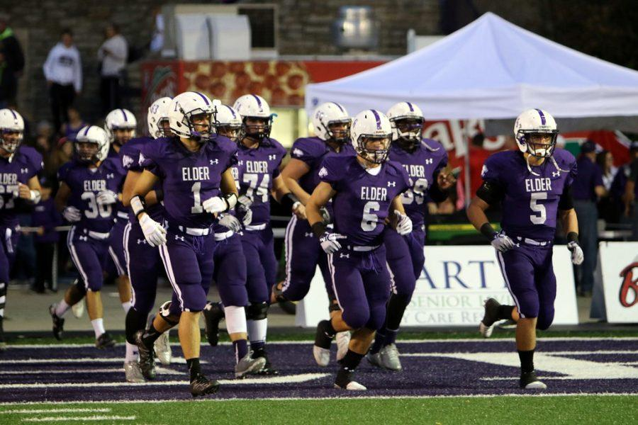 Elder tradition of running onto the field.