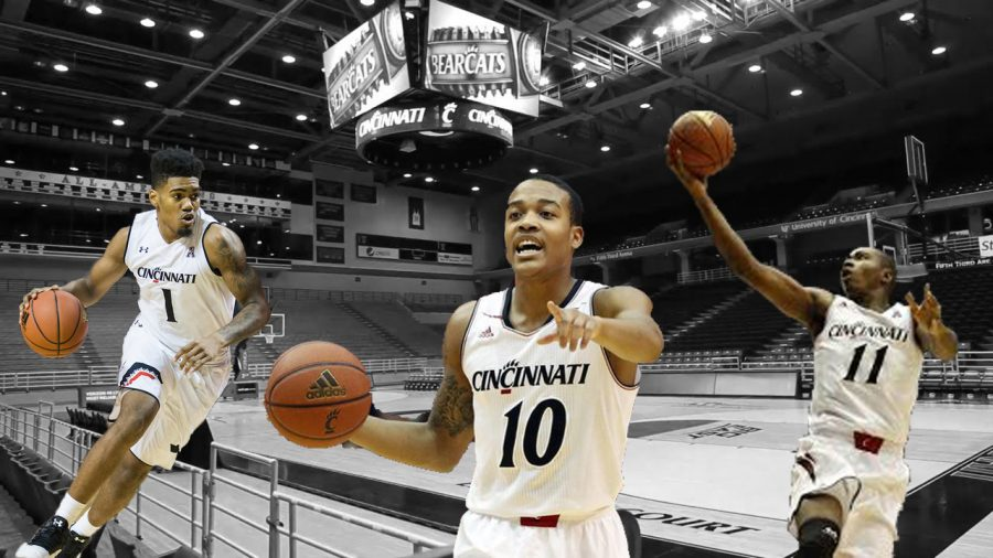 Jacob Evans III, Troy Caupain, and Gary Clark are three stars on Cincinnati's basketball team this year.