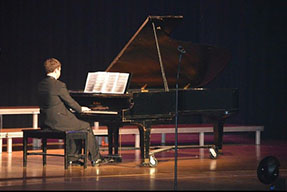 Alexander Carroll performing at the annual Seton Showcase (credit by Alexander Carroll)