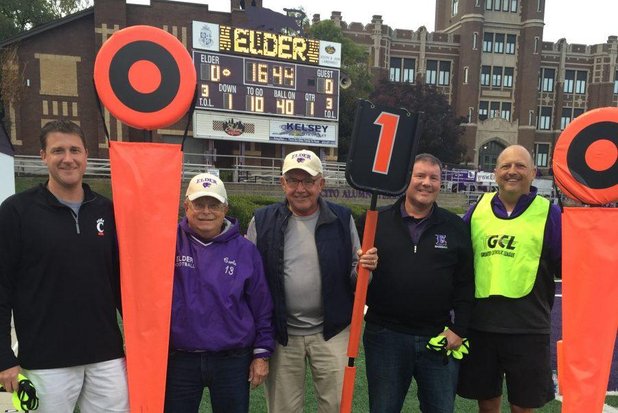 Elders chain crew gets a picture together before an Elder game.