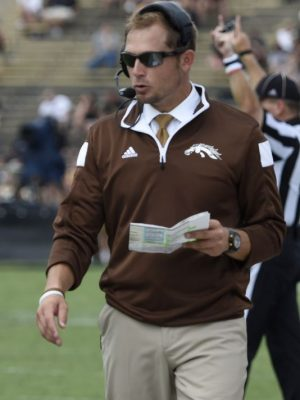 P.J. Fleck coaching at Western Michigan