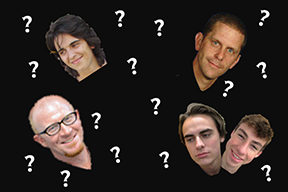 These five agreed to an odd interview (Photos taken and edited by Joe Reiter)
