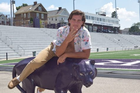 Lucas takes a ride on the panther