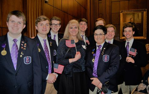 The Elder Glee Club celebrates the citizenship of Elder faculty member Mrs. Karin Kraeling