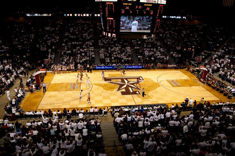 College basketball the 10 ugliest courts the purple quill for Average basketball court size