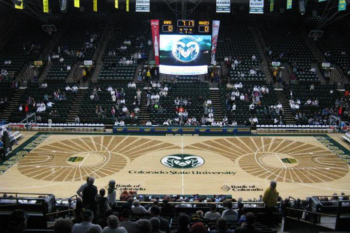 College basketball the 10 ugliest courts the purple quill for Cheapest way to make a basketball court