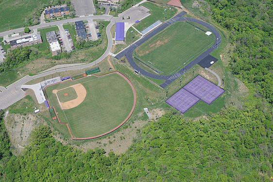 A birds eye view of the P.A.C. Home of the Baseball, Tennis, and Track and Field teams (photo taken from Pinterest)