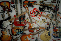 Some of music's most recognizable guitars (Photo edited by Joe Reiter)
