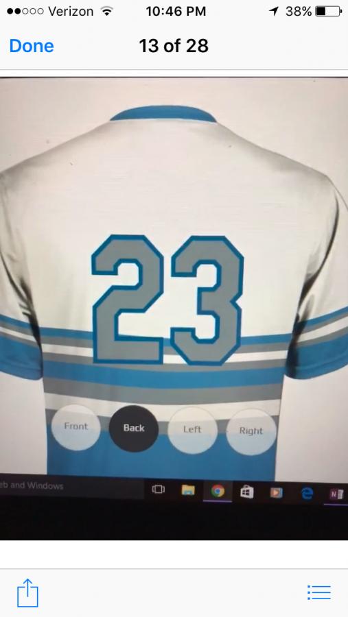 The teams uniform design.