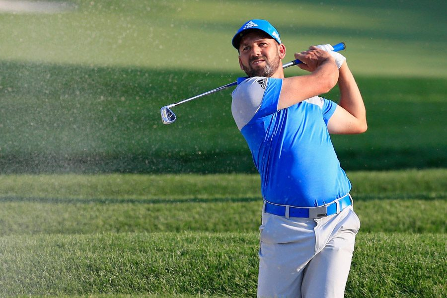 Sergio Garcia of Spain plays a shot on the 15th hole during the final round of the U.S. Open