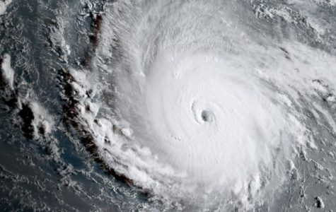 A satellite view of Hurricane Irma: one of the strongest storms ever to be recorded.