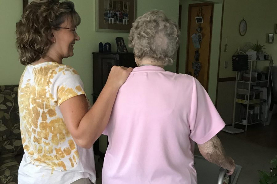 A caregiver for 15 years, Tina Zimpelman has devoted her career to helping the elderly.