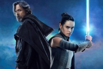 Rey and Luke Skywalker pose for the new film