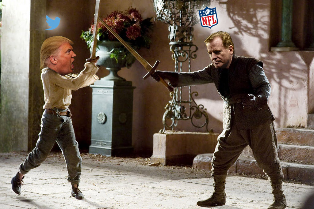 NFL+vs.+Donald+Trump