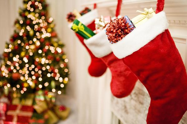 a+satisfying+image+of+a+stuffed+stocking+the+morning+after+St.+Nick+comes
