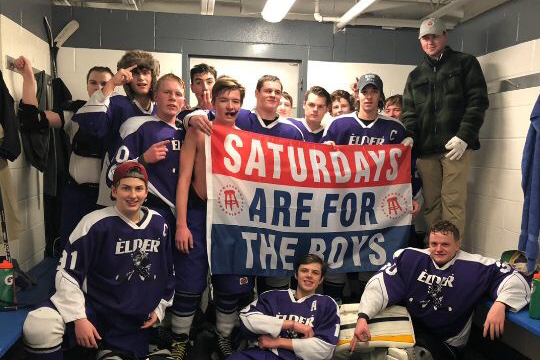 The Panther Puck showing a little love to Barstool after a big W