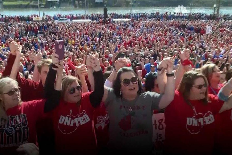 West+Virginia+teachers+strike+for+higher+pay