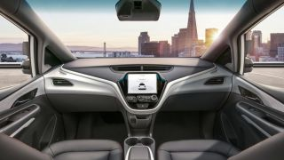 Conceptual design of an autonomous vehicle's interior.  [Via TechRadar.com]