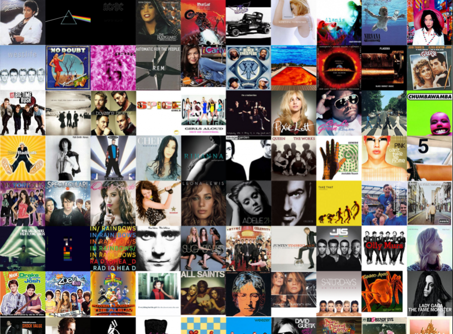 Collage of the greatest albums of all time [Via Deviantart.com]