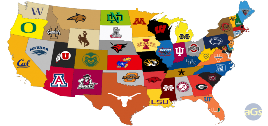 most popular colleges by state