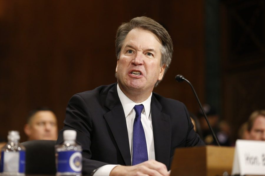 The inevitable question that people ask is did Brett Kavanaugh disqualify himself from being on the Supreme Court. Photo credit to new republic