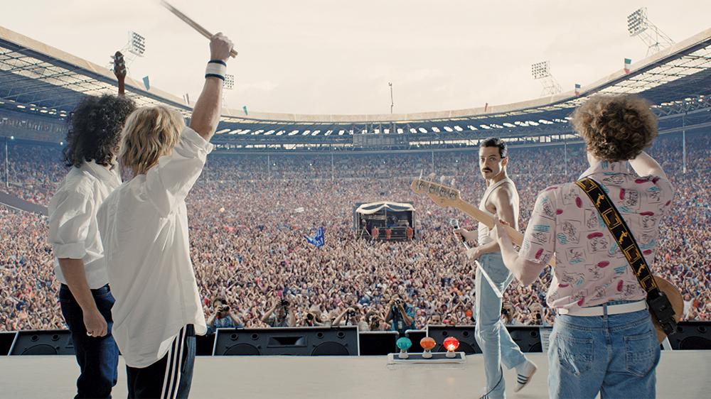 The closing scene of the film, Bohemian Rhapsody