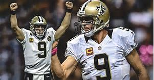 Drew Brees celebrates as he has a career year