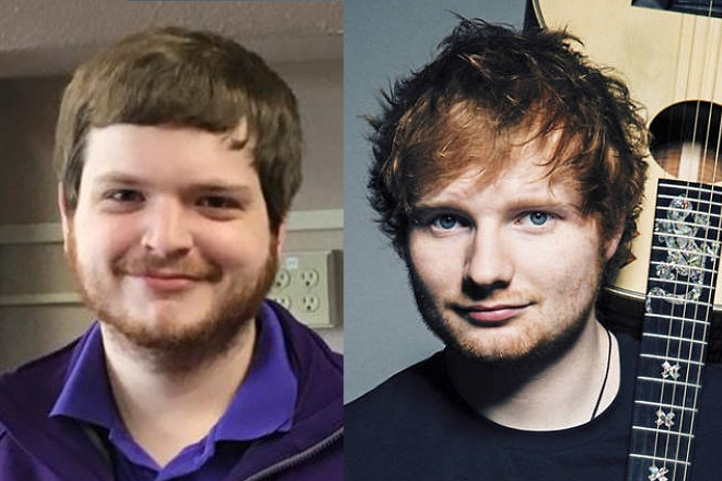 According to the author and several others, Elder's Cory Amodio and Ed Sheeran bear a striking resemblance.