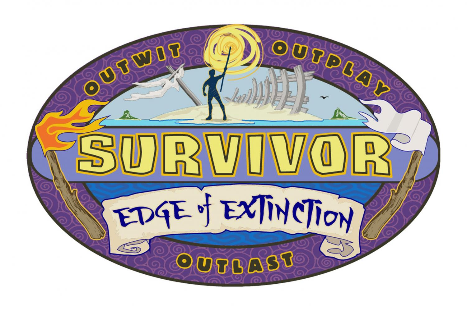 The logo for Survivor's 38th edition features the twist for this year: Edge of Extinction