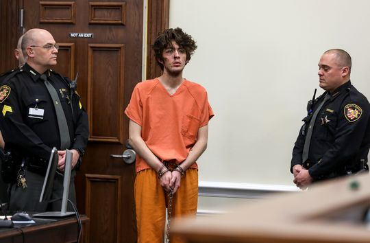 Wade Winn steps into the Clermont County Courthouse on Monday Feb. 4, 2019 for his arraignment after allegedly killing detective Bill Brewer in a standoff the day before. The prosecution seeks the death penalty and bail was set at $10 million. Despite his appearance, Winn said he was not injured or hurt, according to Ravert J. Clark, Winns attorney.